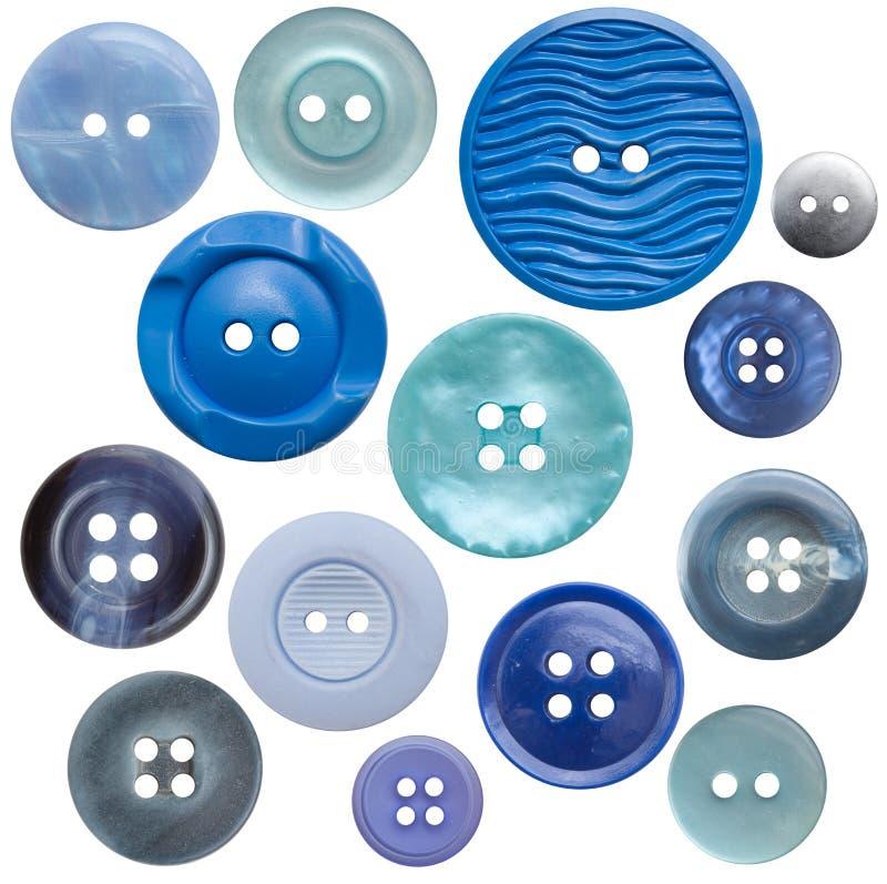 Colección del botón Alto-Res - azul 14, aislado imágenes de archivo libres de regalías
