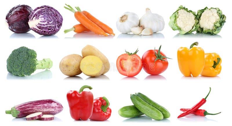 Colección del bróculi f de las zanahorias de los tomates del paprika de las verduras fotos de archivo libres de regalías