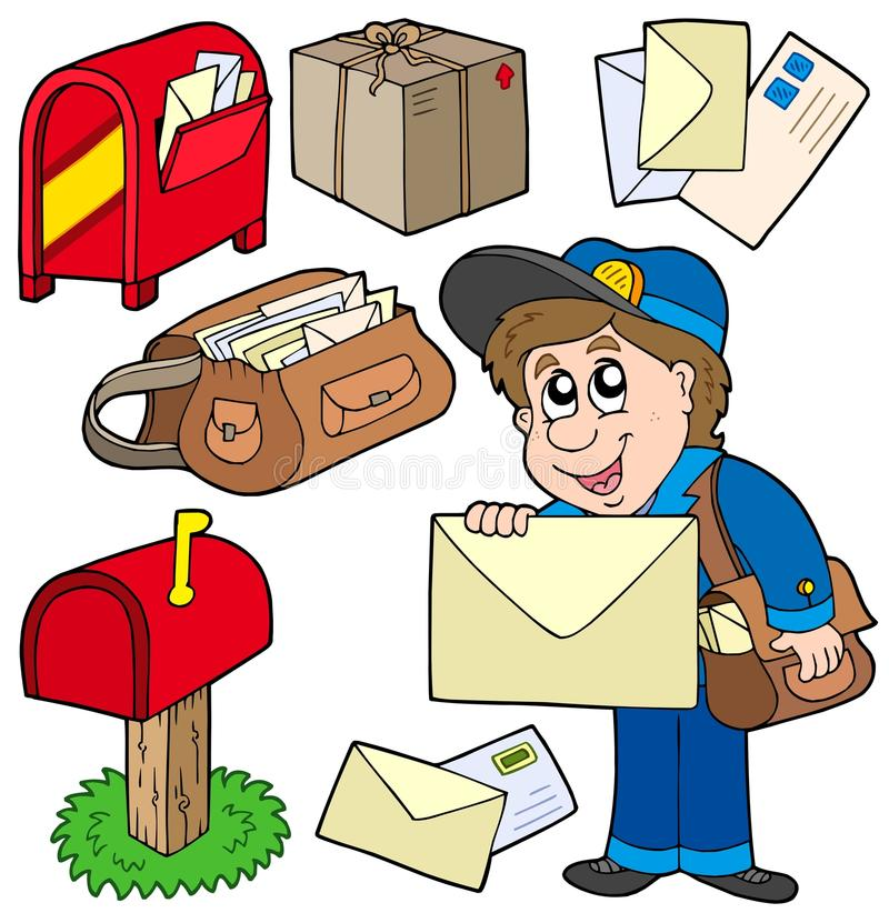 Colección del correo stock de ilustración