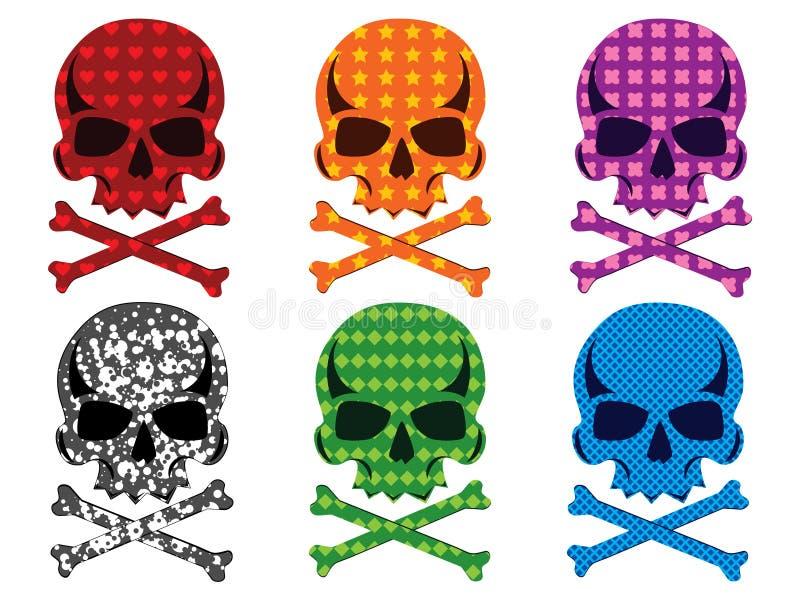 Colección del cráneo ilustración del vector