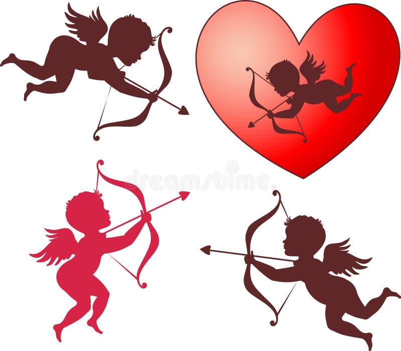 Colección del Cupid ilustración del vector