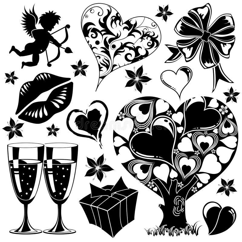 Colección del día de tarjetas del día de San Valentín libre illustration