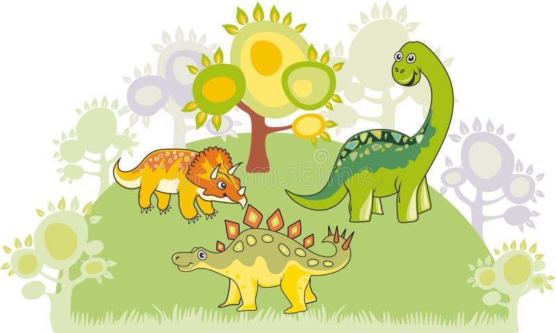Colección del dinosaurio ilustración del vector