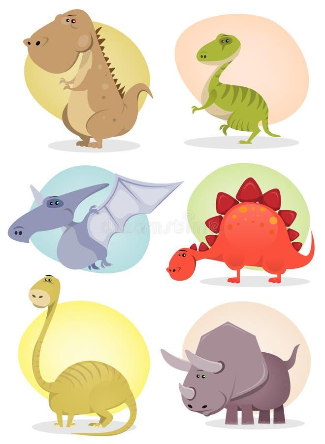 Colección del dinosaurio de la historieta libre illustration