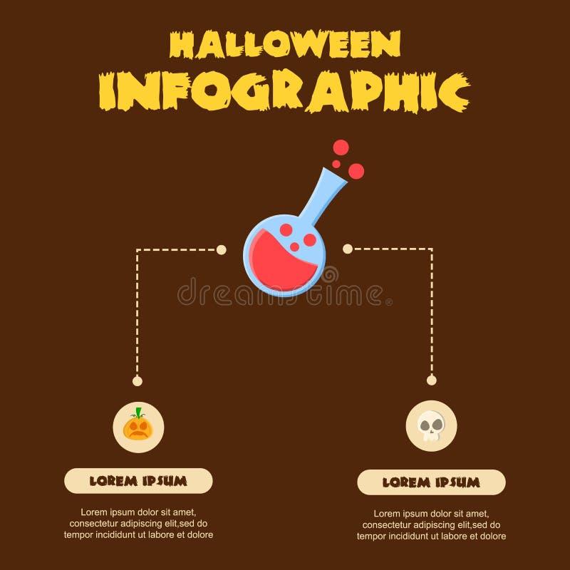 Colección del diseño de Halloween Infographic diversa stock de ilustración