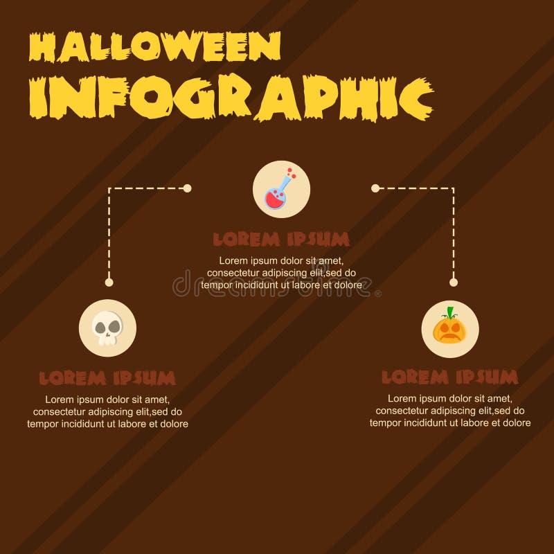 Colección del diseño de Halloween Infographic diversa ilustración del vector
