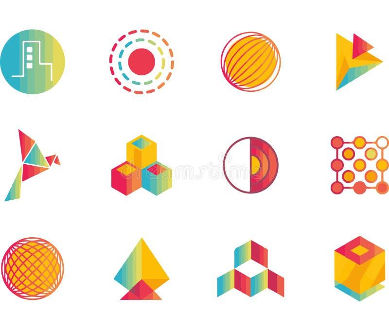 Colección del diseño del logotipo del negocio libre illustration