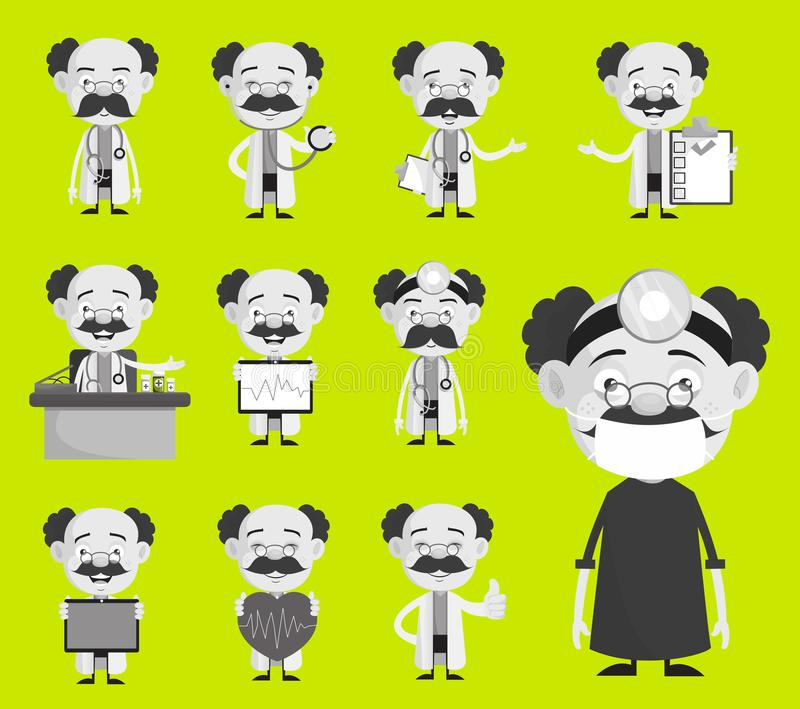 Colección del diverso doctor Concepts y de vector de los gestos libre illustration