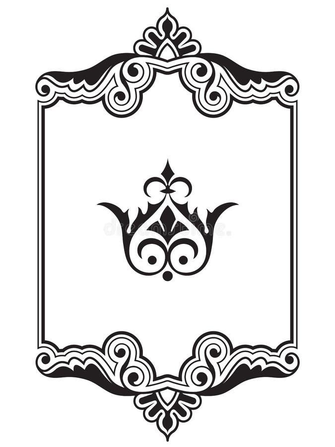 Colección del elemento del diseño del marco de la frontera ornamental libre illustration