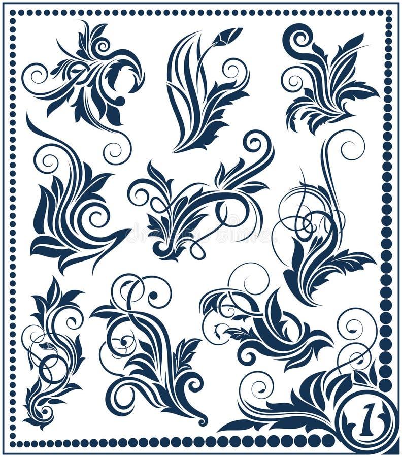 Colección del elemento del diseño floral libre illustration