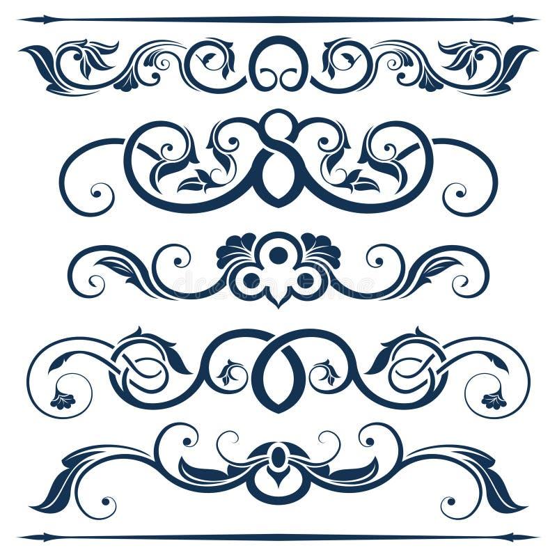 Colección del elemento del diseño floral ilustración del vector