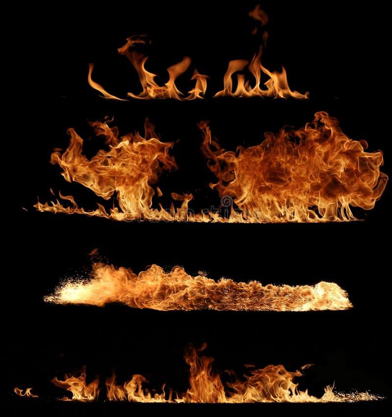 Colección del fuego fotografía de archivo libre de regalías