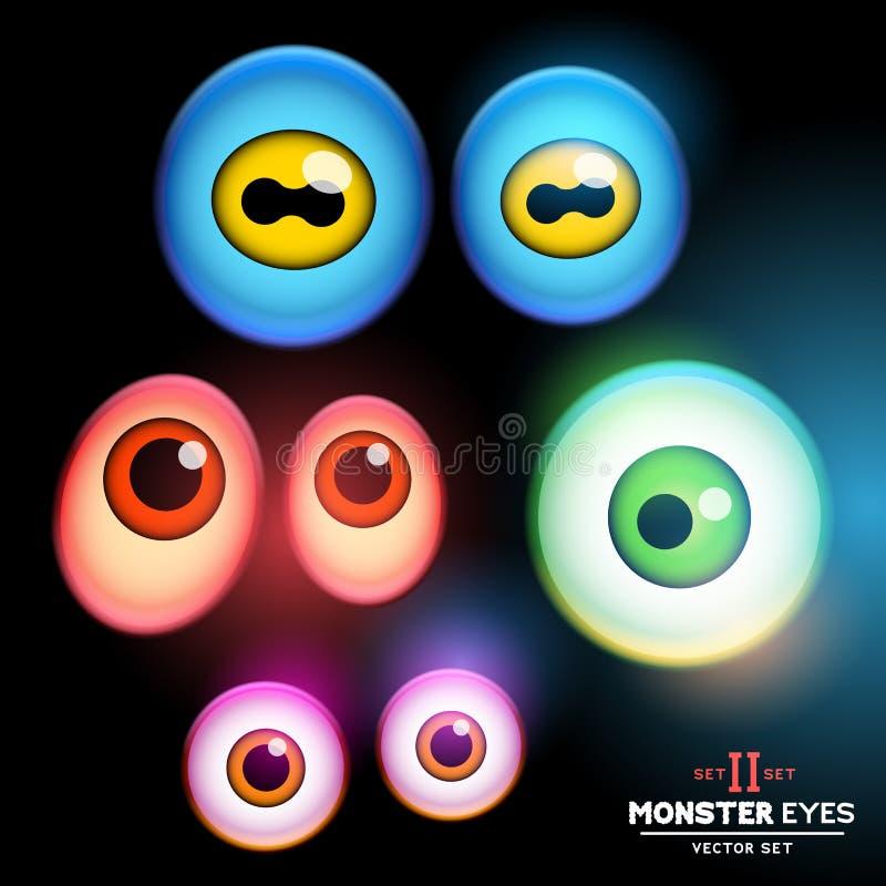 Colección del globo del ojo del monstruo ilustración del vector