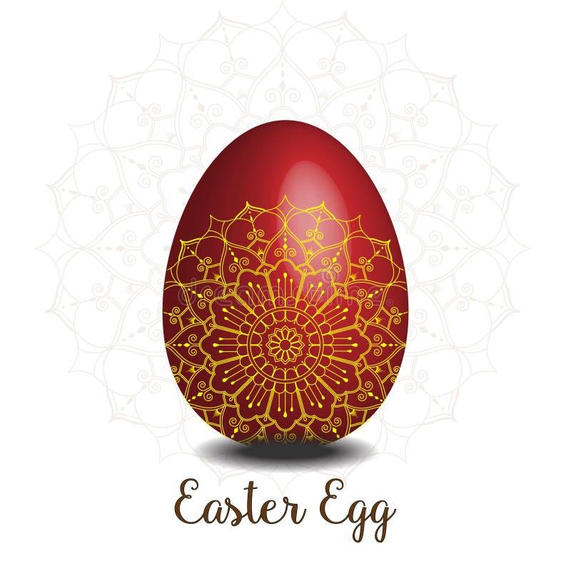 Colección del huevo de Mandala Easter stock de ilustración