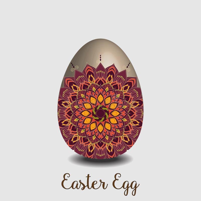 Colección del huevo de Mandala Easter ilustración del vector