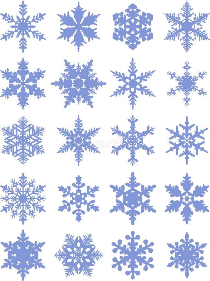 Colección del icono de los copos de nieve Copos de nieve libre illustration
