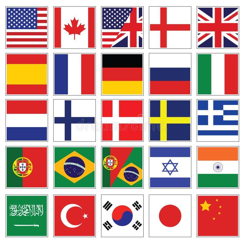 Colección del icono del lenguaje del Web ilustración del vector