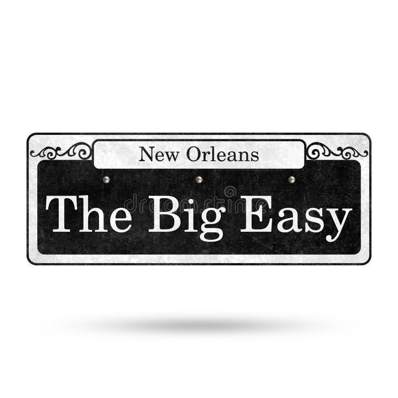 Colección del nombre de la calle del barrio francés de las placas de calle de New Orleans stock de ilustración