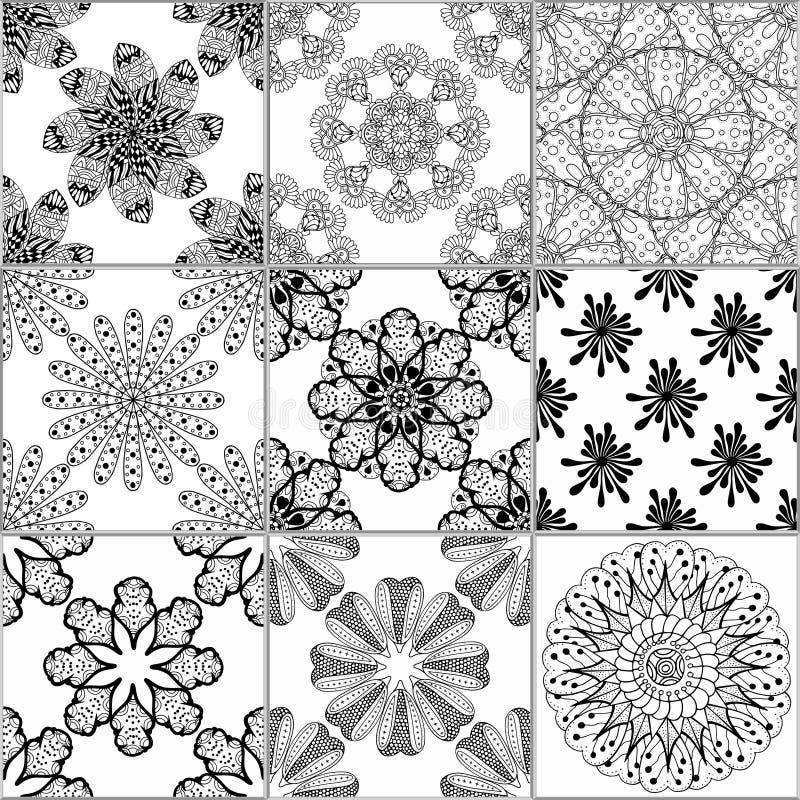 Colección del ornamento del piso de tejas libre illustration