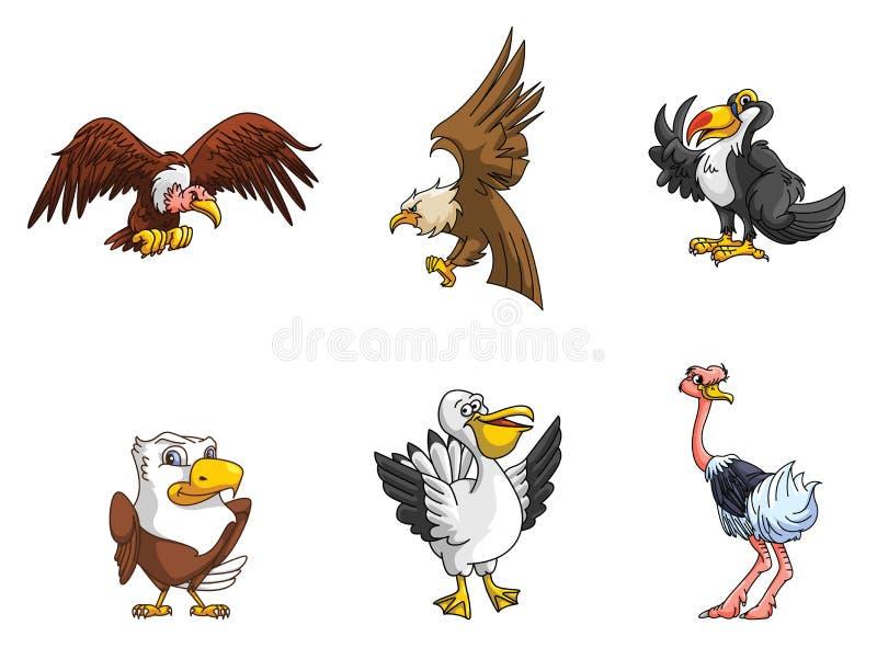 Colección del pájaro stock de ilustración