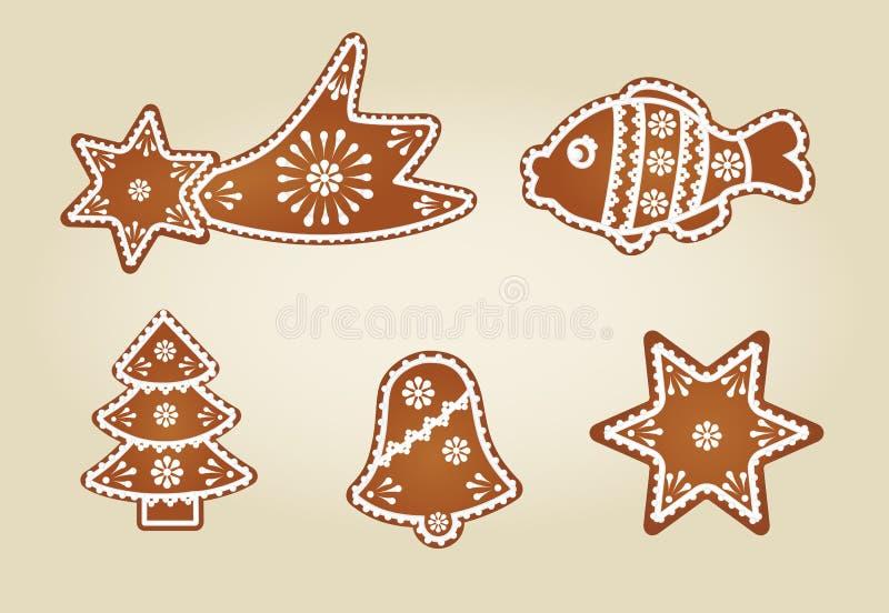 Colección del pan de jengibre libre illustration