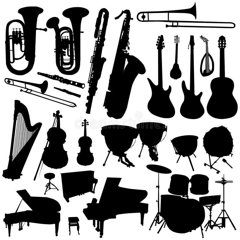 Colección del vector 2 de la música ilustración del vector