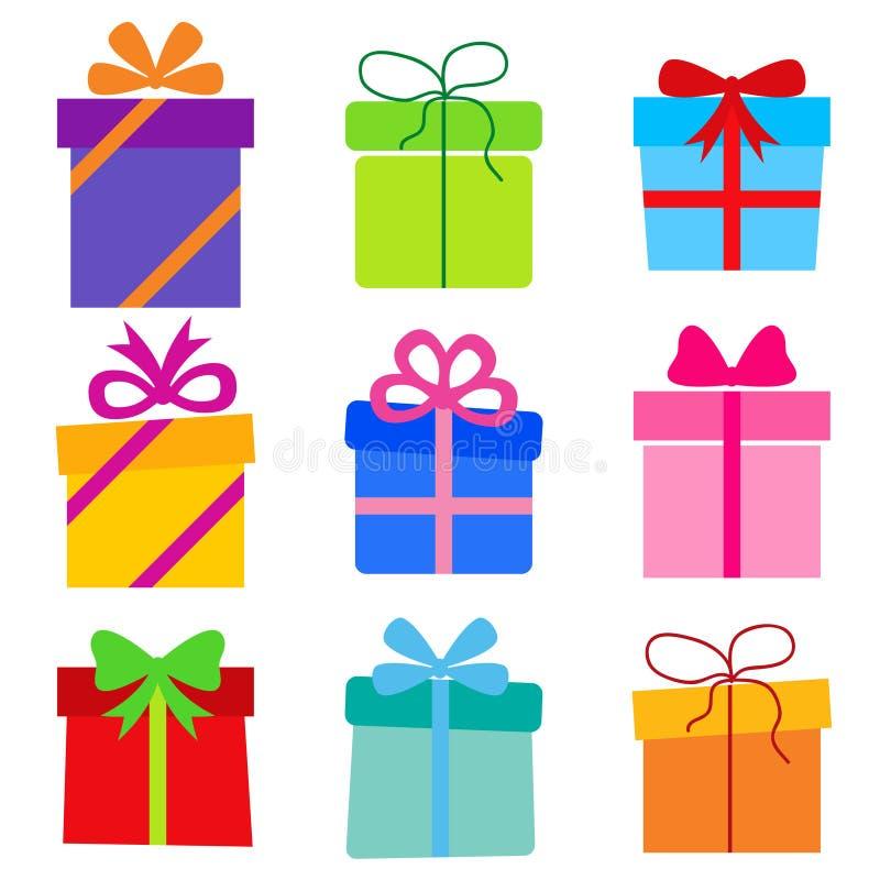 Colección del vector: cajas de regalo ilustración del vector