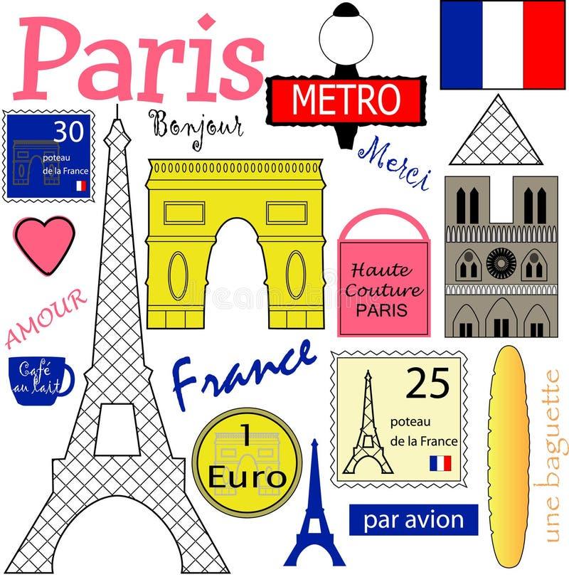 Colección del vector de París libre illustration