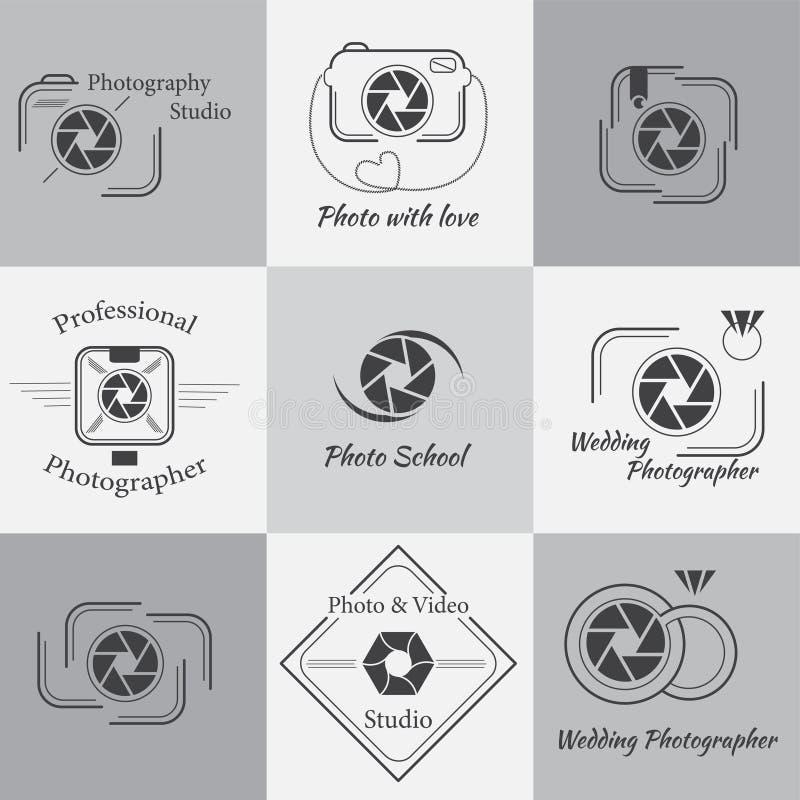 Colección del vector de plantillas del logotipo de la fotografía ilustración del vector