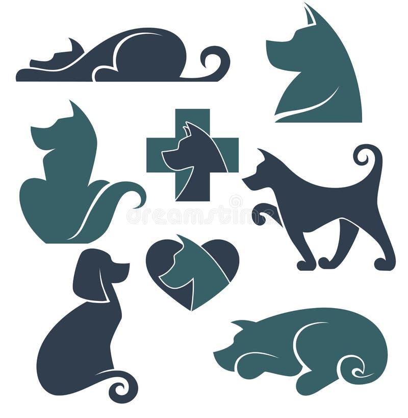 Colección del vector de símbolos de los perros libre illustration