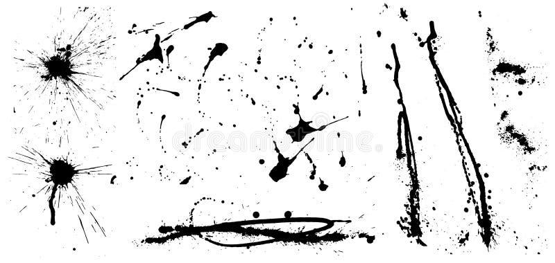 Colección del vector de tinta artística ilustración del vector