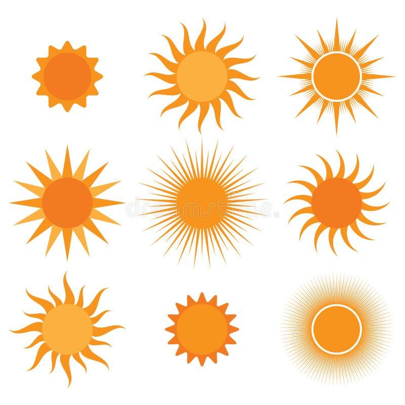 Colección del vector: iconos del sol libre illustration