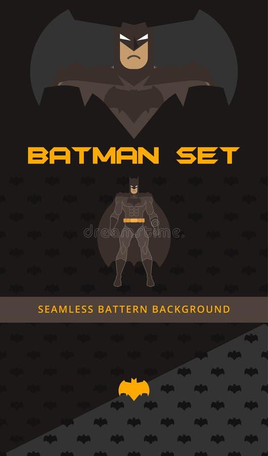Colección del vector del tema de Batman stock de ilustración