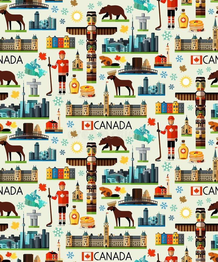 Colección del viaje de Canadá ilustración del vector