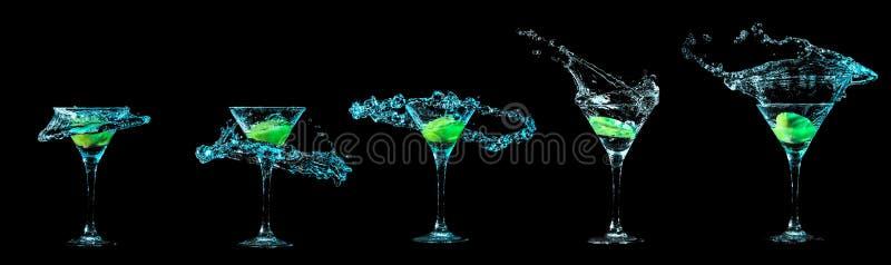 Colección del vidrio de Martini imagen de archivo libre de regalías