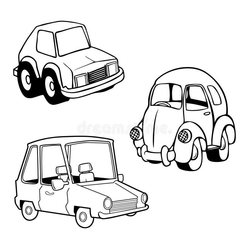 Colección divertida del coche stock de ilustración