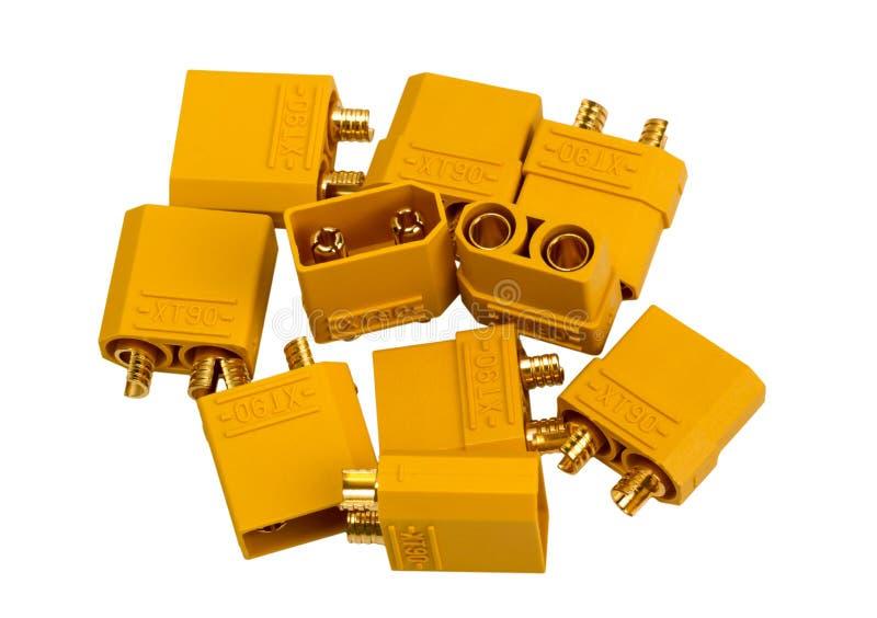 Colección electrónica - industr de alta potencia del conector de la baja tensión fotos de archivo