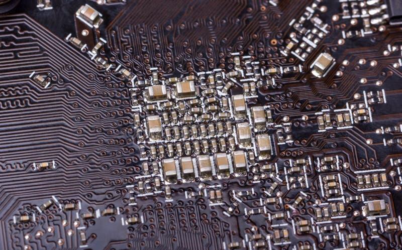 Colección electrónica - placa de circuito del ordenador foto de archivo