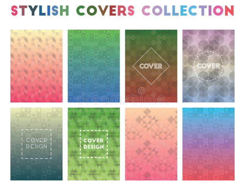 Colección elegante de las cubiertas ilustración del vector