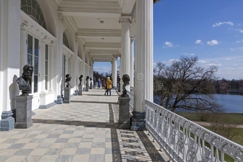 Colección escultural de Cameron Gallery de Catherine Palace en Pushkin imagen de archivo libre de regalías