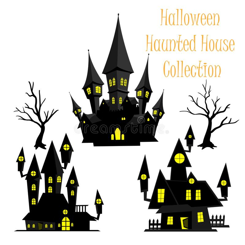 Colección fantasmagórica de la casa encantada de Halloween foto de archivo