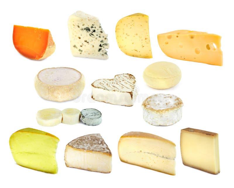 Colección francesa del queso fotos de archivo libres de regalías