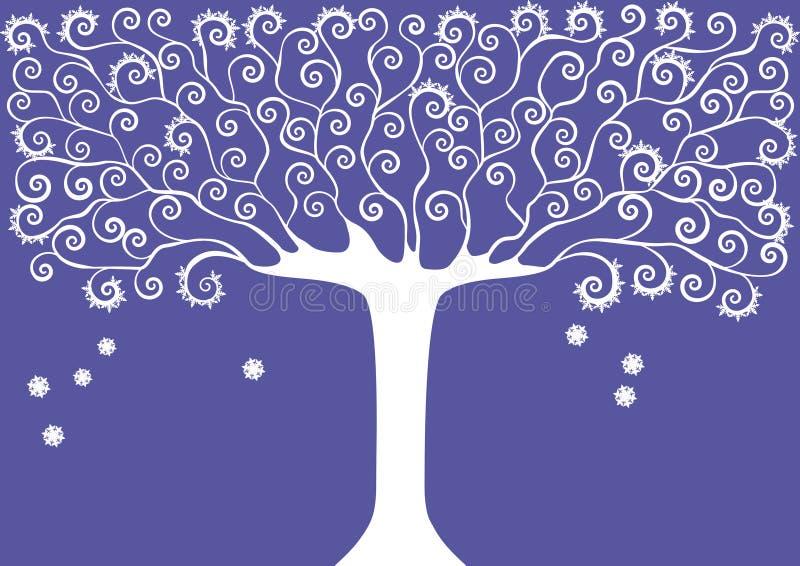 Colección gráfica de la imagen de árboles estaciones Invierno Ilustración del vector ilustración del vector