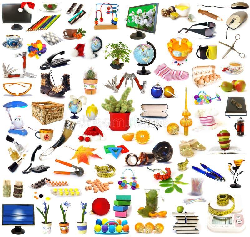 Colección grande de objetos fotos de archivo libres de regalías