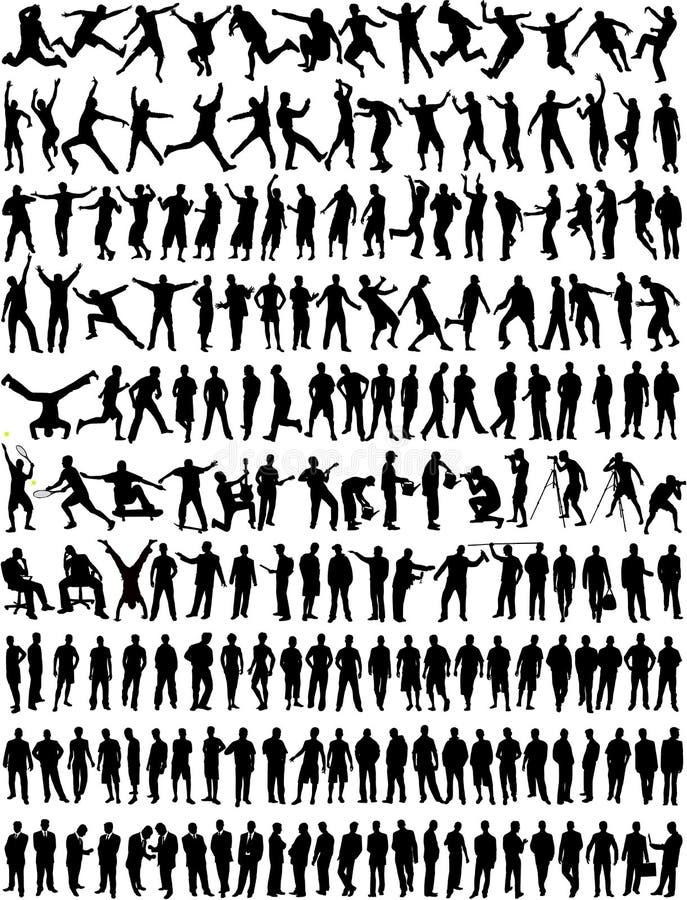 Colección grande - hombre/muchacho stock de ilustración