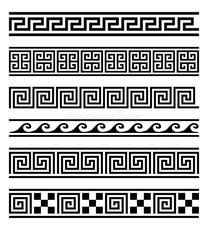 Colección griega del vector de los marcos stock de ilustración