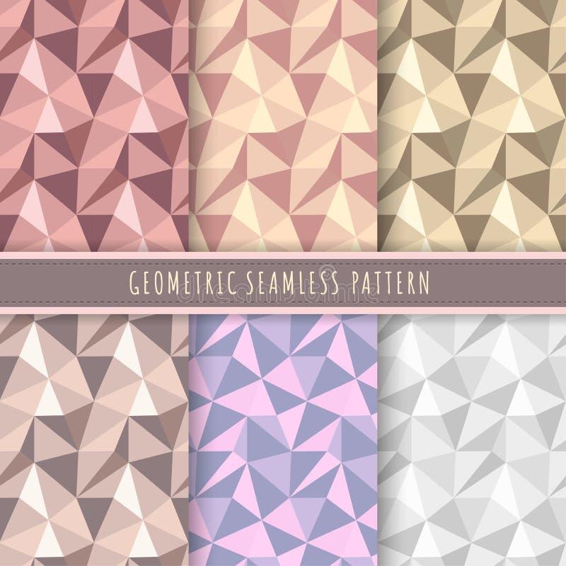 Colección inconsútil geométrica del modelo   ilustración del vector