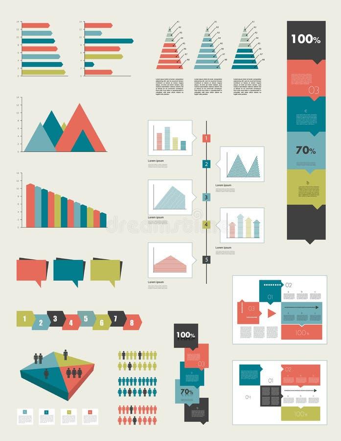 Colección infographic plana ilustración del vector