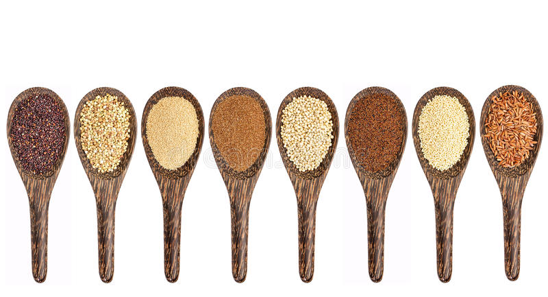 Colección libre del grano del gluten imagen de archivo