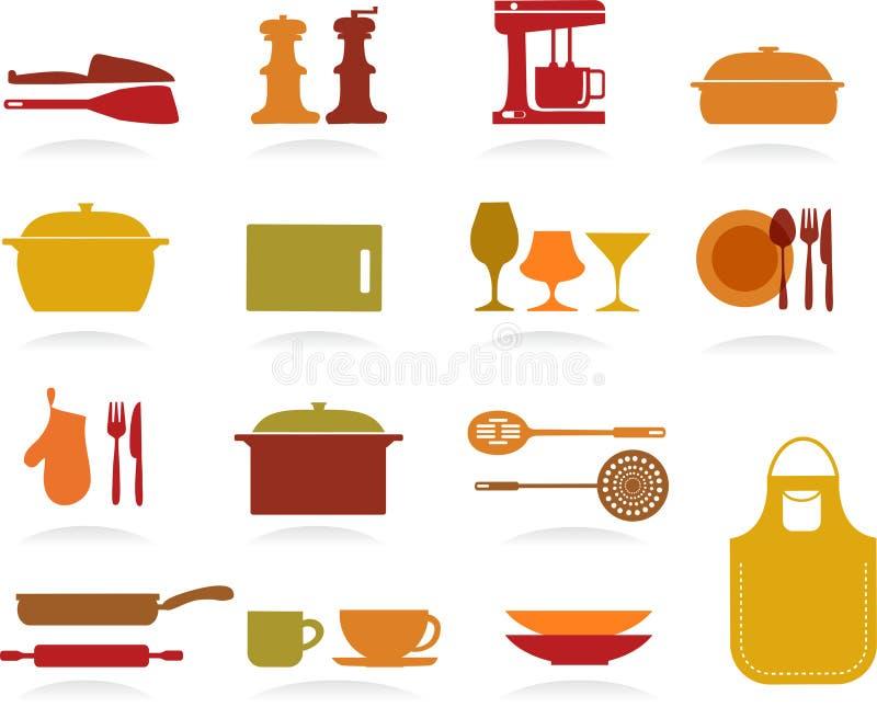 Colección linda de la cocina libre illustration